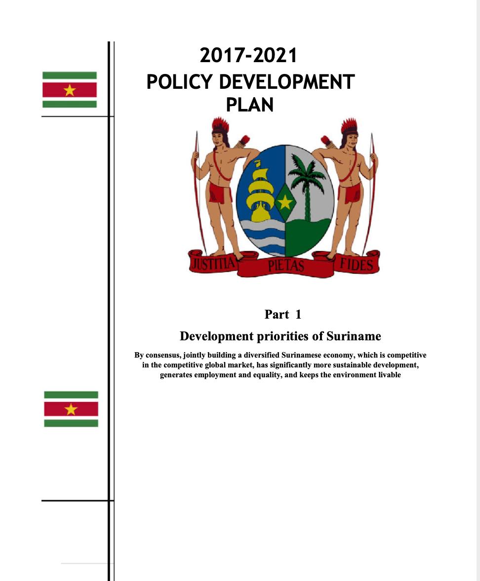 Policy Development Plan 2017-2021 - Republic of Suriname